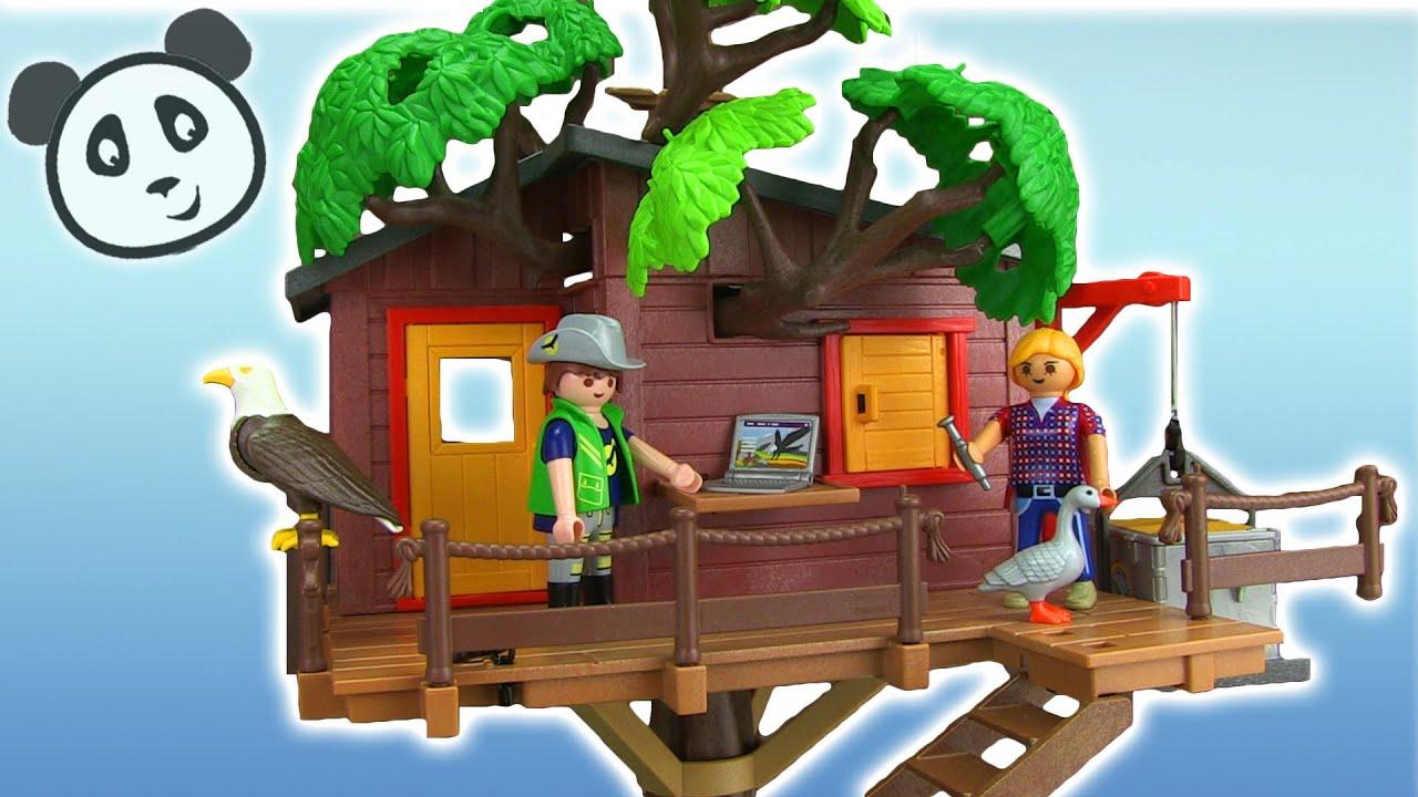 Playmobil aventuras en la casa en rbol demostraci n de armado y juego pandido tv youtube - Casa del arbol playmobil 5557 ...
