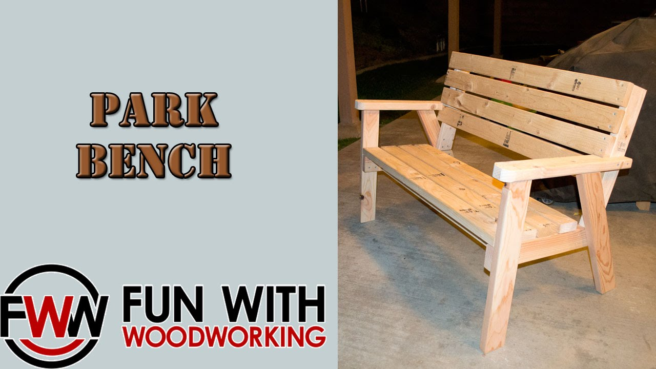 Project - How to make a park bench with a reclined seat ...