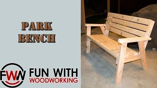 Project - How To Make A Park Bench With A Reclined Seat Out Of 8 - 2x4's
