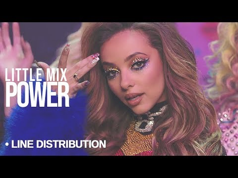 LITTLE MIX - Power : Line Distribution (color coded) | Ft. Stormzy