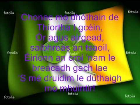 Irish song   Trasna na dTonnta LYRCS