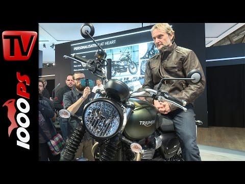 Triumph Motorräder 2017 Premiere | Street Scrambler, Bonneville Bobber