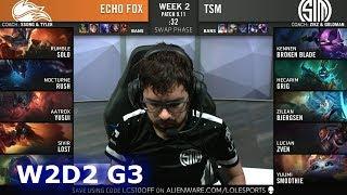 FOX vs TSM | Week 2 Day 2 S9 LCS Summer 2019 | Echo Fox vs TSM W2D2