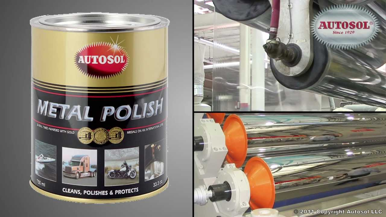 Plastic Extrusion Chill Rolls - Cleaning with Autosol.  www.autosol.com