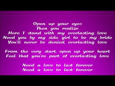 The Love Affair - Everlasting Love (Lyric Video)