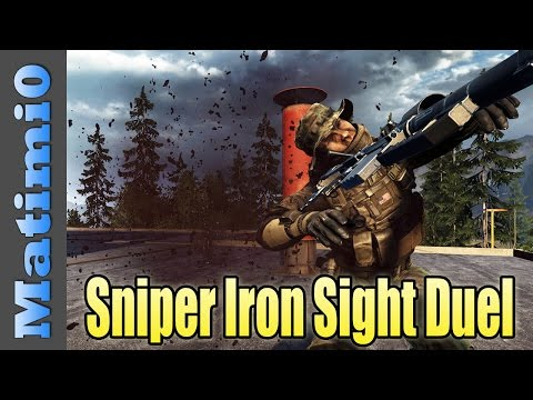 Sniper Iron Sights Duel - Whiskey Dick - Battlefield 4