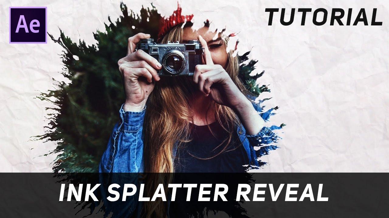 After Effects Tutorial : Ink Splatter Reveal (Ink Drop)