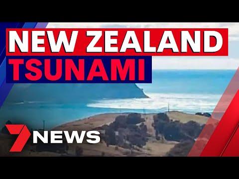 Tsunami waves hit