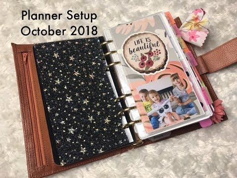 Planner Update Gillio Compagna Setup/Flip - October 2018 // Pink Planner Girl