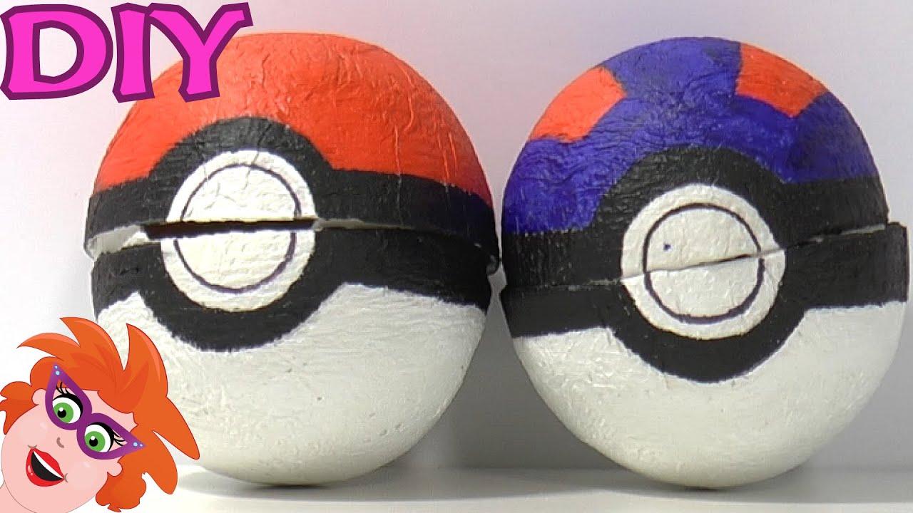 Super DIY pokeball knutselen van papier mache _ Pokemon! - YouTube KI25