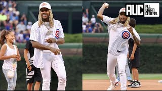 Lil Durk Brings His Kids To Chicago Cubs Game Throws First Pitch