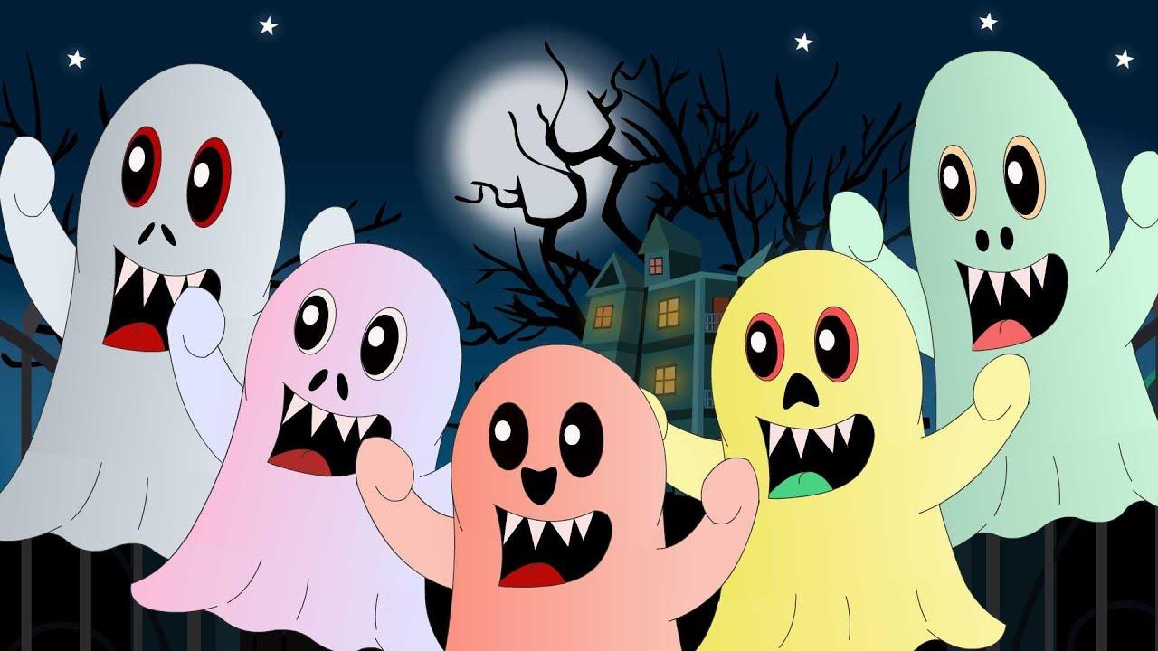 five little monsters | nursery rhyme with lyrics | halloween song