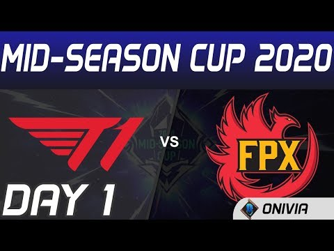 T1 Vs FPX Highlights Day 1 Mid Season Cup 2020 T1 Vs FunPlus Phoenix By Onivia
