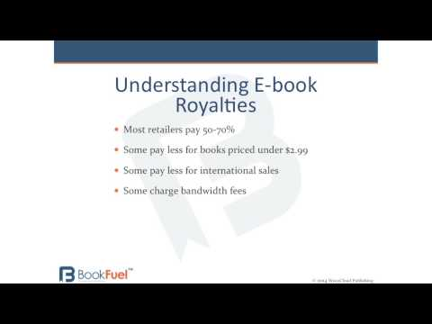 Become familiar with ebook royalties