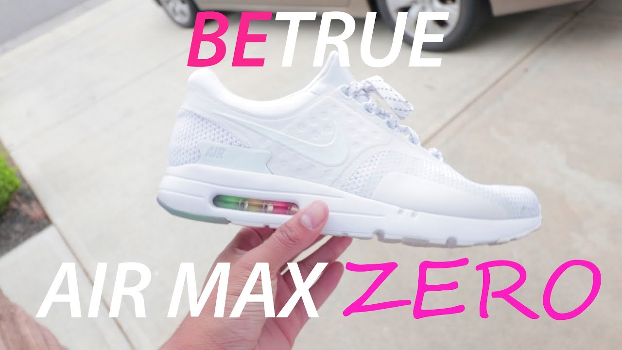 100% authentic 5caa8 fb532 Nike Air Max Zero BE TRUE | LGBT PRIDE SNEAKER REVIEW