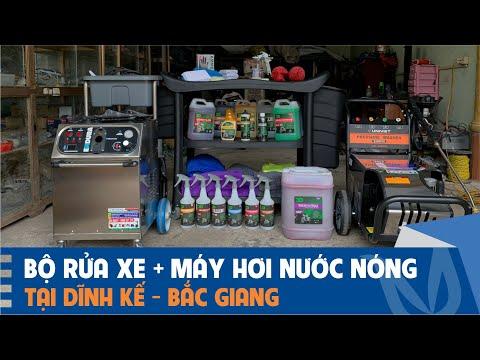 Trạm rửa xe có máy hơi nước nóng tại Bắc Giang