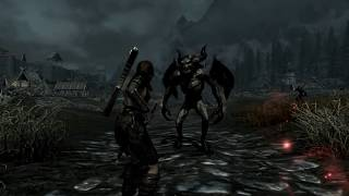 Skyrim Battles - Aela the Huntress [Werewolf] vs Lord Harkon [Vampire Lord] [Master Settings]