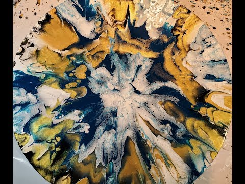 (88) Fluid Art Acrylic Pouring:  Slingin' Paint for Stunning Effects! pour painting cloud effect