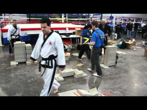 Brick Breaking Foot Stomp at the USBA/WBA