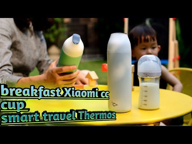 Xaomi kiss kiss fish cup egg breakfast smart travel mug temperature display cup Thermos bottle trave