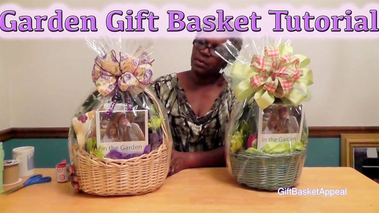 Gardening Gift Basket Ideas classic gardening gift basket retired How To Make A Garden Gift Basket Diy Gifts Youtube