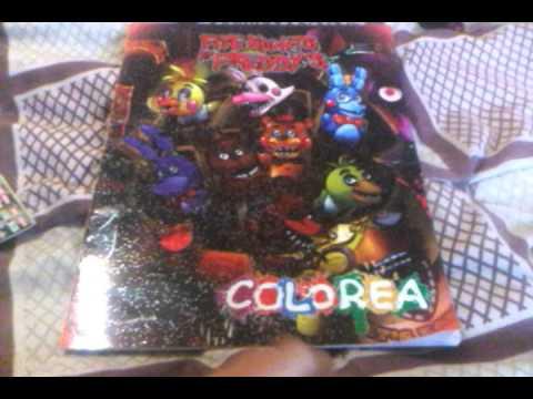 Mi Libro Para Colorear De Fnaf Y Cartas Youtube
