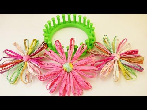 Sommer DIY ? Blumen aus Creativ Paper & Bast selber machen | Knitting Loom Summer Idee
