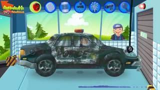 Скорая помощь и Полицейская машинка у видео для детей - Автомойка машинок! Мультики для детей