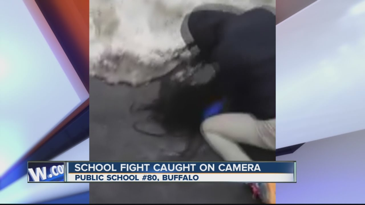 Elementary school fight caught on camera in Buffalo - YouTube
