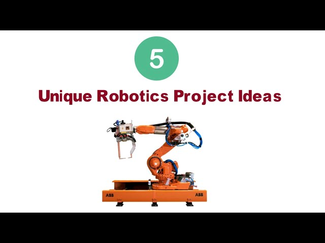 Most Unique Robotics Final Year Project Ideas   AI Engineering Projects   Mechatronics  