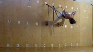 yoga wall practice huun Hur Tu
