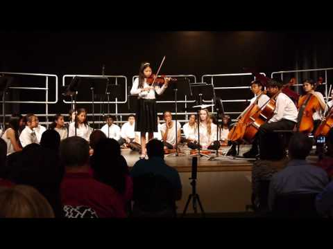 11 year old Samantha Gao performs Paganini #5  at Newark Charter School