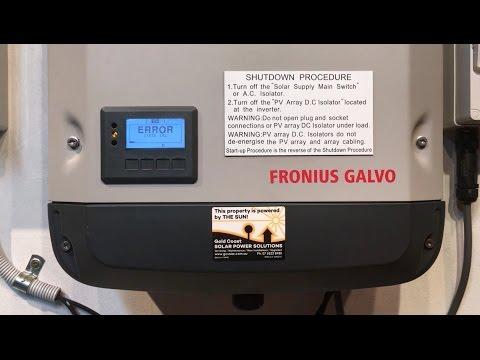 Fronius Galvo, Primo and Symo Inverter STATE 102 Error Message