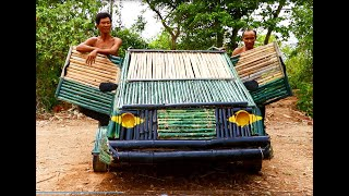 The Best Building : Build Most Beautiful Car By Using Bamboo With Wooden - Car House