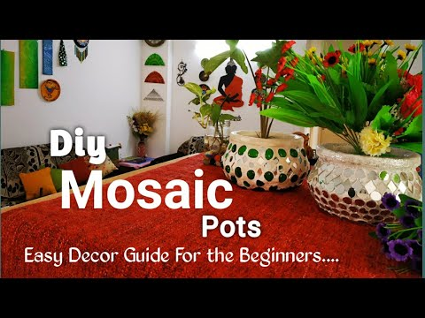 Stylish Room Decor With DIY Mosaic Matka || Purani Handi Ka Behtarein Use || Recycle old clay pots