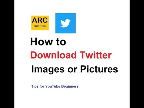 How to save download Twitter photo or image | ARC Tutorials