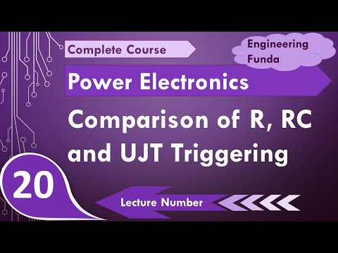 comparison of r triggering, rc triggering & ujt triggering in power  electronics by engineering funda