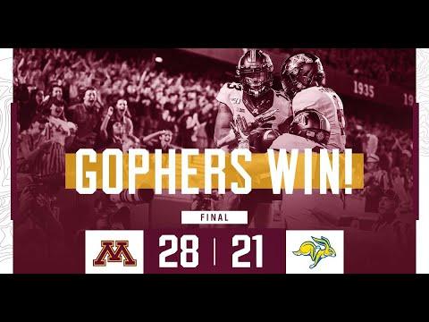 Gopher Blog - Highlights: Gopher Football Defeats South Dakota State 28-21 | KFAN 100.3