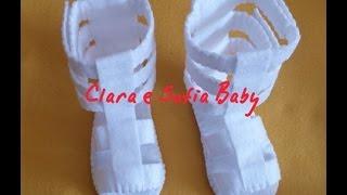Sandalia Gladiadora feita a mão para bebês