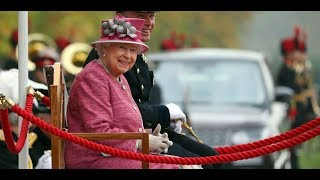 The Queen reviews The King's Troop at their 70th Anniversary Parade