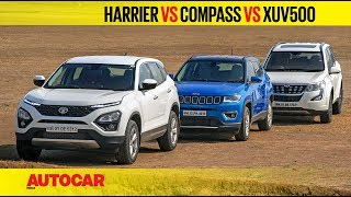 Tata Harrier vs Jeep Compass vs Mahindra XUV500 | Comparison Test Review | Autocar India