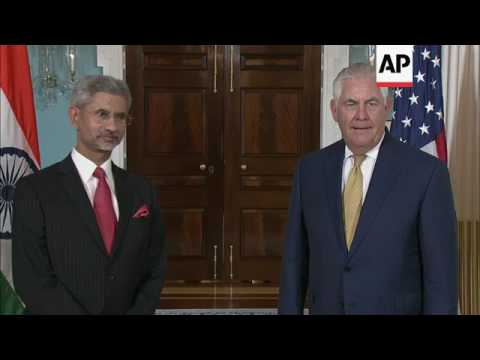 Tillerson Meets With India Foreign Minister
