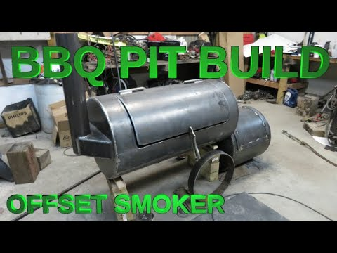 DIY BBQ PIT OFFSET SMOKER build