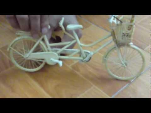 xe đạp làm bằng tăm tre