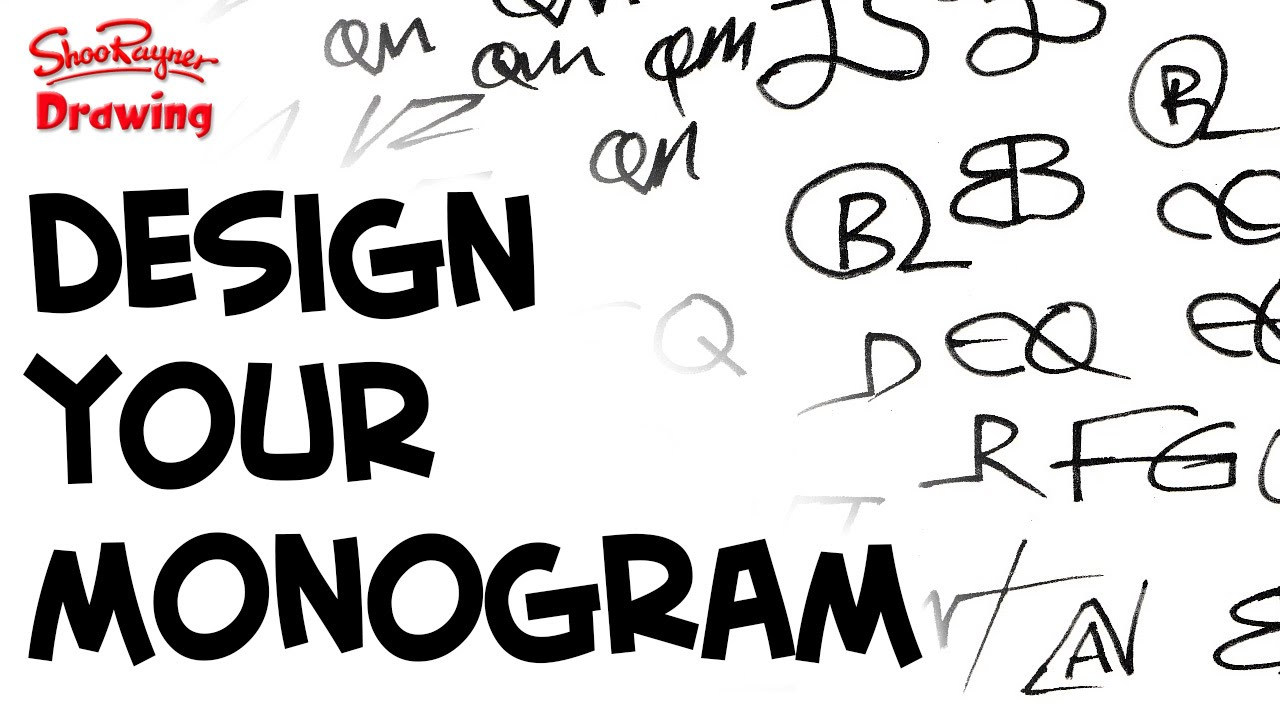 how to design your own amazing monogram youtube