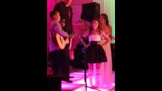 9 Year Old Boy shocks his sister at Bat Mitzvah with The Be