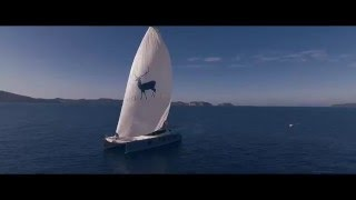 BLUE DEER - Luxury Sunreef Sailing Catamaran trailer
