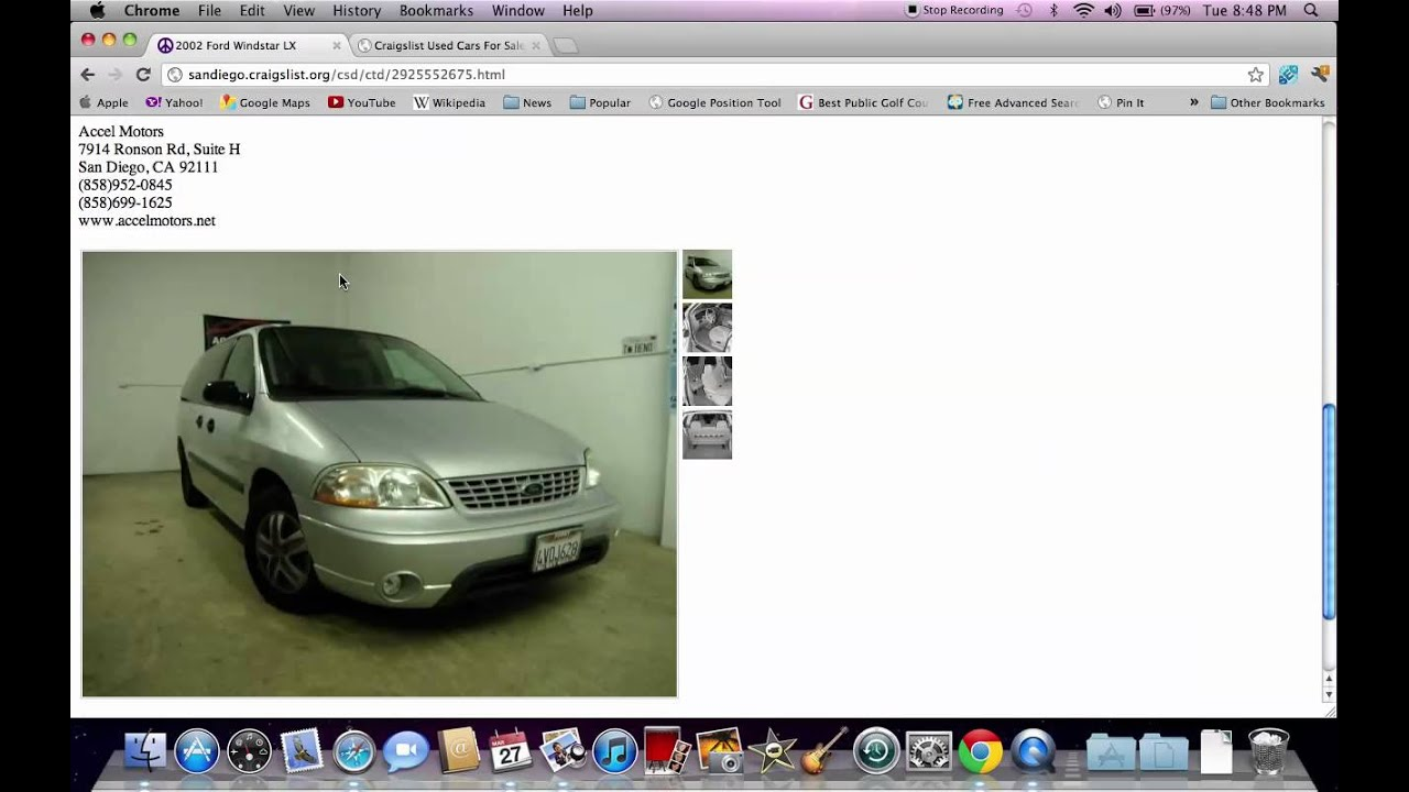 Craigslist san diego cars used trucks vans and suvs available online youtube