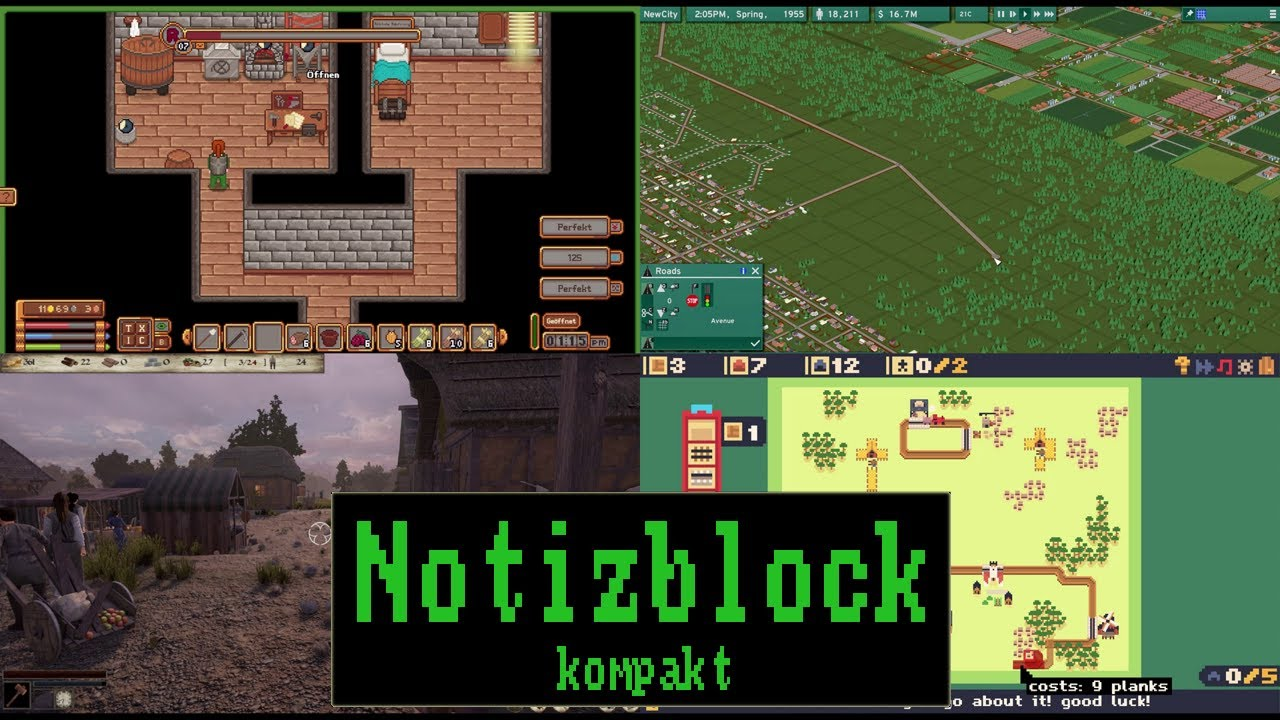 Notizblock kompakt #083: Travellers Rest | NewCity | Empires and Tribes | Soko Loco Deluxe