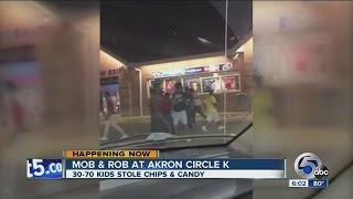 "Akron Police investigating a ""mob and rob"" at a Circle K"